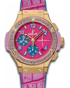 Hublot Big Bang Pop Art Mat Dark Rose Dial 18k Yellow Gold Limited Edition Ladies Watch 341.VV.7389.LR.1205.POP15