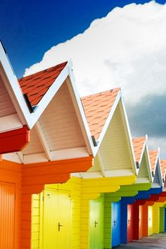 Sunny Clouds Colorful Log Cabin #iPhone #4s #wallpaper