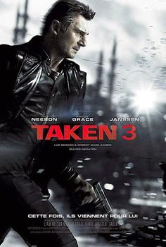 Taken 3 movie trailer, cast, plot, and release date starring Liam Neeson and Maggie Grace. Neeson returns as Bryan Mills a retired CIA agent with a very particular set of skills. Liam Neeson, Great Movies, New Movies, Movies Online, Latest Movies, 3 Movie, Love Movie, Thriller, Movie Covers