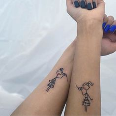 Sister Matching Arm Tattoos