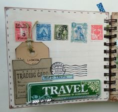 VAkantie Album...travel journal idea...I have these papers...love this album and the ideas!