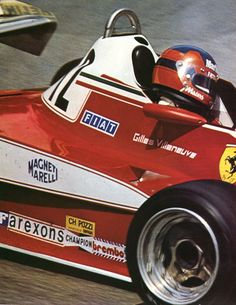 Gilles Vileneuve (Ferrari 312 T3) saison 1978 - AUTOhebdo août 1978.