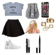 """""""Untitled #42"""" by zoebird1234 ❤ liked on Polyvore featuring Neil Barrett, Converse, Herschel, Quay, Apt. 9 and Stila"""