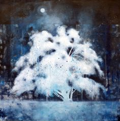 Nikol Haskova, 'Snowbloom', acrylic on canvas in) 2014 available at Mayberry Fine Art Bare Tree, Canadian Art, Art Nature, Wilderness, Trees, Fine Art, Canvas, Winter, Artwork