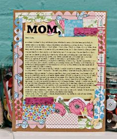 Sadly, not all of our mums can be with us still. This card has a lovely sentiment. Mothers Day May, Mothers Day Brunch, Fathers Day, Mother And Father, Photo Editing, Crafts For Kids, Scrapbooking, Craft Ideas, Holidays