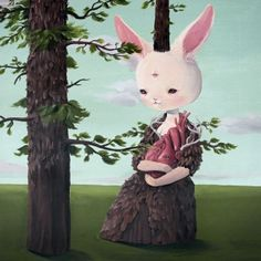 Roby Dwi Antono Lowbrow Art, Pop Surrealism, Consciousness, Tinkerbell, Contemporary Art, Disney Characters, Fictional Characters, Rabbit, Ballet