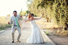 Vintage Romance Wedding at Nooitgedacht Estate {Real Wedding} | Confetti Daydreams - Fun couple pic captured by Moira West Photography ♥ #White #Green #Wedding ♥  ♥  ♥ LIKE US ON FB: www.facebook.com/confettidaydreams  ♥  ♥  ♥