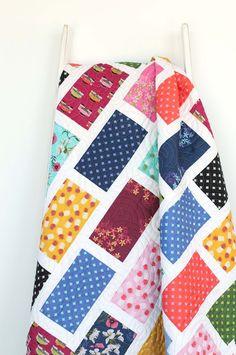 Beginner Quilt Patterns, Modern Quilt Patterns, Quilt Patterns Free, Quilt Tutorials, Modern Quilting, Patchwork Patterns, Sewing Tutorials, Strip Quilts, Patch Quilt