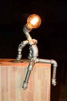 Designer Industrial Edison Vintage Style Beer Man Rustic ...