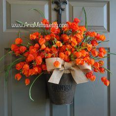 guirnaldas de otoño | verano corona de guirnaldas de puerta de entrada | puerta de regalo de cumpleaños |  guirnalda al aire libre de decoraciones gracias