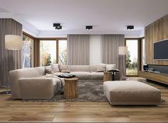 Modern Home Interior Design, Home Room Design, Interior Design Living Room, Beige Living Rooms, Home Living Room, Living Room Decor, Rectangular Living Rooms, Living Room Tv Unit Designs, Small Apartment Design