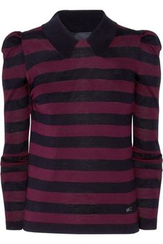 Burberry London Striped Silk and Cotton-Blend Top