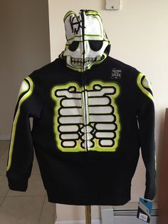 Freeshipping Boys Tony Hawk Sweatshirt Hoodie Jacket XLarge NWT Skeleton Ghost…