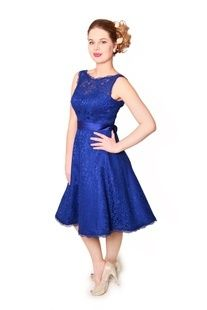 EMBM01 - Bateau neckline sleeveless, deep V back lace  A-line skirt short bridesmaids dress