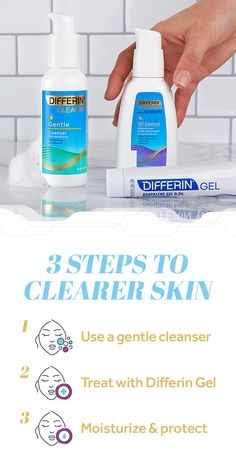 Nov 2018 - If you're serious about treating acne, then your regimen needs a serious refresh. Try this routine and be on your way to clearer skin: Start with Differin Gentle Cleanser, treat with Differin Gel, and hydrate with Differin Oil Absorbing M Acne Treatment At Home, Natural Acne Treatment, Acne Treatments, Cleanser For Sensitive Skin, Oily Skin, Home Remedies For Pimples, Acne Remedies, Recipes, Saving Money