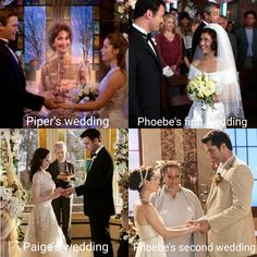 Look at pheobe's first wedding... Look at how different it looks than the other! Serie Charmed, Charmed Tv Show, Wedding Tv Shows, Phoebe And Cole, Victor Webster, Julian Mcmahon, Charmed Book Of Shadows, Charmed Sisters, Old Shows