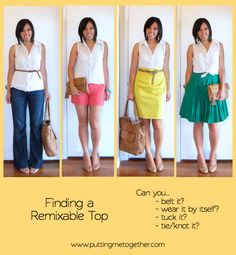 Building a Remixable Wardrobe, Part 2: Shopping for Remixable Pieces