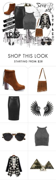 """""""Untitled #29"""" by azraa-tursunovic ❤ liked on Polyvore featuring Christian Dior, Worlds Away and yoins"""