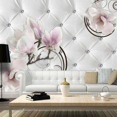 Fiore DEpoca Fiore Di Magnolia Moderna Fotomurali 3D Immagini Da Parete Carta Da Parati In Tessuto Non Tessuto