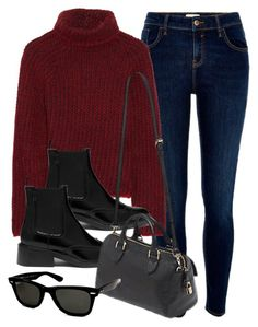 """#13970"" by vany-alvarado ❤ liked on Polyvore featuring River Island, Etro, Mulberry and Ray-Ban"