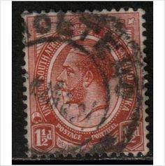 South Africa Scott 4 - SG5, 1913 1.1/2d used stamps sur le France de eBid