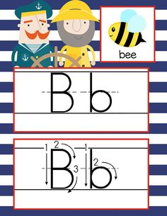 NAUTICAL red Theme Classroom Decor / ABC Cards with illustrations / Handwriting / font: ABC print / JPEGS and PDF / ARTrageous Fun
