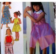 Style Sewing Pattern 2745 4-9 GIRLS Pants,Skirt,Dress
