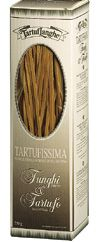 "TartufLanghe ""Tartufissima"" - Tagliatelle with Porcini mushroom and Truffle  A tasty combination between the rarest ""mushrooms"" of our land. The high percentuage of eggs in our tagliatelle eggpasta enhances the taste of the porcini mushroom and of the truffle. This is  hand-made pasta and has a shelf life of 36 months. Porcini Mushrooms, Stuffed Mushrooms, Shelf Life, Truffles, Gourmet Recipes, Eggs, Tasty, Foods, Handmade"