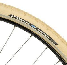 "Schwalbe Delta Cruiser Cream 26"" x 1 3/8"" Bike Tyre: Amazon.co.uk: Sports & Outdoors"