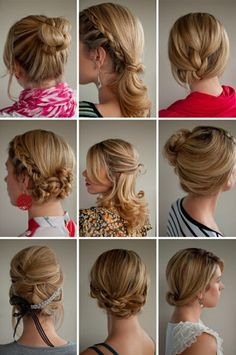 So many ideas for simple, everyday updos.