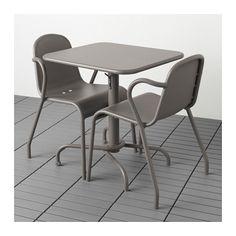 TUNHOLMEN Table+2 chairs, outdoor - gray - IKEA