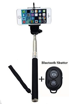 UFCIT Extendable Selfie Handheld Stick Monopod with Adjustable Phone Holder and Bluetooth Wireless Remote Shutter for iPhone Samsung and other system over IOS 6.0 and Android 4.2.2 Smartphones (Black with Shutter) UFCIT http://www.amazon.com/dp/B00LEFRRQK/ref=cm_sw_r_pi_dp_LWuAub09MQGAB