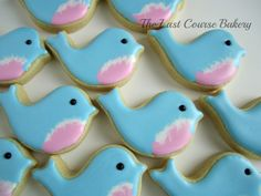 One Dozen Blue Bird Cookies by TheLastCourseBakery on Etsy, $24.00