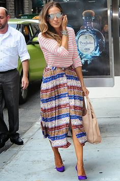 Sarah Jessica Parker out in New York City, New York - September 2, 2014 | The Trend Diaries - Latest Celebrity Style, Fashion, and Beauty Trends - Street Style and Red Carpet