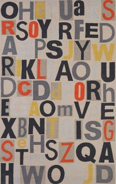 letterpress rug in rugs   CB2 - SO CUTE!  Just wish it was more of a rug than an mat, and not acrylic.