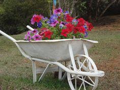 Garden Pond Design, Garden Yard Ideas, Indoor Garden, Garden Tools, Growing Succulents, Growing Plants, Wheel Barrel Planter, Wheelbarrow Garden, Vertical Garden Diy