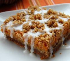 Gingerbread Pumpkin Bars for the fall