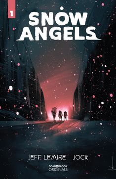 Snow Angels, a new kind of dystopian tale from Jeff Lemire & Jock debuts this week from ComiXology Originals. Horror Comics, Fun Comics, Snow Angels, Next Week, Cover Art, The Originals, Books, Movie Posters, Movies
