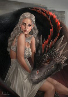 """What's not to like about dragons! I havent' had the opportunity to watch the final episode of this season but here's an """"earlier in the days"""" Daenerys and sweet Drogon <3"""