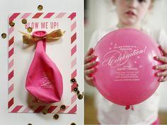 Convite criativo com balão - IFIT