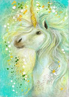 Commission for Nibbles at the MLPArena She wanted a unicorn like the ones I've made, but in colored pencils. Unicorn for Nibbles Unicorn Fantasy, Unicorn Horse, Unicorn Art, Magical Unicorn, Fantasy Art, Rainbow Unicorn, Pegasus, Fantasy Creatures, Mythical Creatures