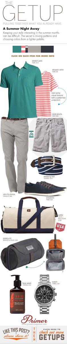 collared shirt & shorts A+