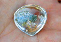 Quartz Gemstone:  an inclusion transforms a translucent quartz into a striking and rare gemstone...From Minas Gerais State, Brazil. Polished in Sao Paulo