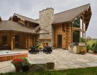 Handcrafted Full Log - Custom handcrafted log homes by Maple Island Log Homes
