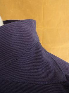 Smock Indigo - Fishermans Smock - British made clothing Wayside Flower.co.uk Work Jackets, Made Clothing, Cute Diys, Folk Costume, Smocking, Indigo, Sewing Projects, Cotton Fabric, British