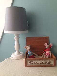 maileg #babykamer #nursery #mint #goround #grijs #lamp