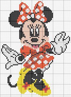 Disney Minnie schema perline da stirare Pyssla grande 65x89