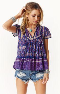 indigo blouse by RAGA #planetblue