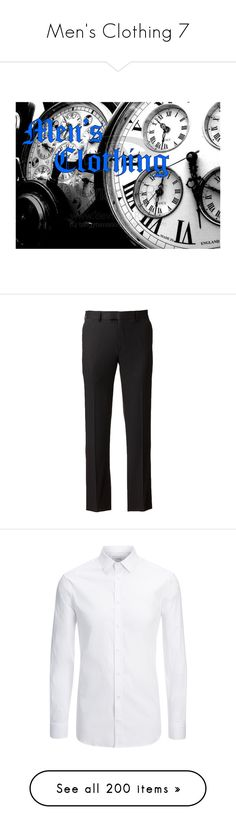 """Men's Clothing 7"" by mouserz-wuz-here ❤ liked on Polyvore featuring pants, flat front pants, dressy pants, slim suit pants, flat front dress pants, flat front suit pants, men's fashion, men's clothing, men's shirts and men's casual shirts"