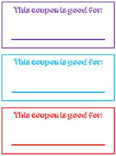 Blank Kid Coupon Template Chore List Ideas Printables Coupon